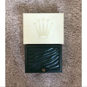 Rolex Empty Watch Box inner Green and Outer.